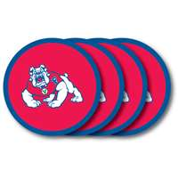 Fresno State Bulldogs Coaster Set - 4 Pack