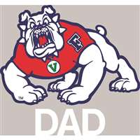 Fresno State Bulldogs Transfer Decal - Dad