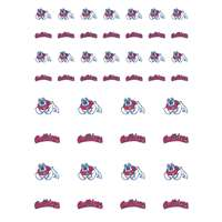 Fresno State Bulldogs Small Sticker Sheet - 2 Sheets