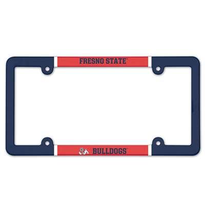 Fresno State Bulldogs Plastic License Plate Frame