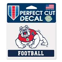 "Fresno State Bulldogs Perfect Cut Football Decal - 3.25"" x 4.5"""