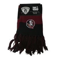 Florida State Seminoles Top of the World Stripe Scarf - Black/Maroon