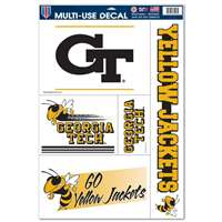 "Georgia Tech Yellow Jackets Multi-Use Decal Sheet - 11"" x 17"""