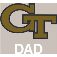Georgia Tech Yellow Jackets Transfer Decal - Dad
