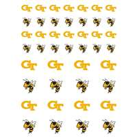 Georgia Tech Yellow Jackets Small Sticker Sheet - 2 Sheets