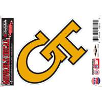 Georgia Tech Yellow Jackets Repositionable Vinyl Decal
