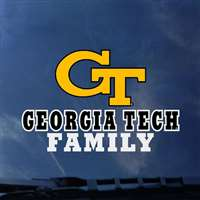Georgia Tech Yellow Jackets Transfer Decal - Family