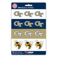 Georgia Tech Yellow Jackets Mini Decals - 12 Pack
