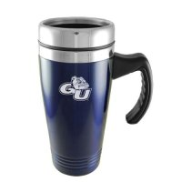Gonzaga Bulldogs Engraved 16oz Stainless Steel Travel Mug - Blue