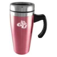 Gonzaga Bulldogs Engraved 16oz Stainless Steel Travel Mug - Pink