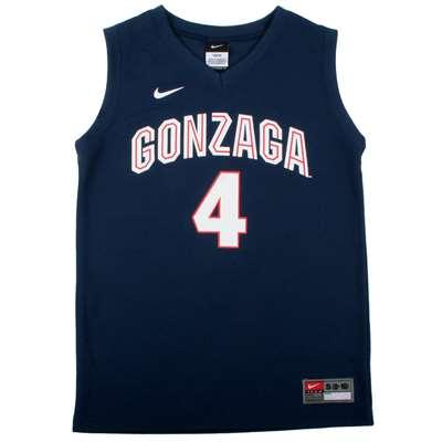be3480881c54 Nike Gonzaga Bulldogs Youth Replica Basketball Jersey - Navy  4