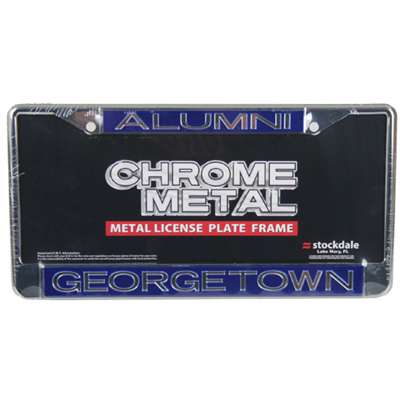 Georgetown Hoyas Metal Alumni Inlaid Acrylic License Plate Frame