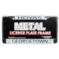 Georgetown Hoyas Metal License Plate Frame w/Domed Insert