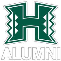 Hawaii Rainbow Warriors Transfer Decal - Alumni
