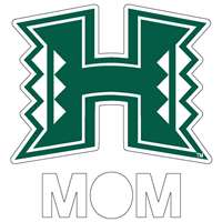 Hawaii Rainbow Warriors Transfer Decal - Mom