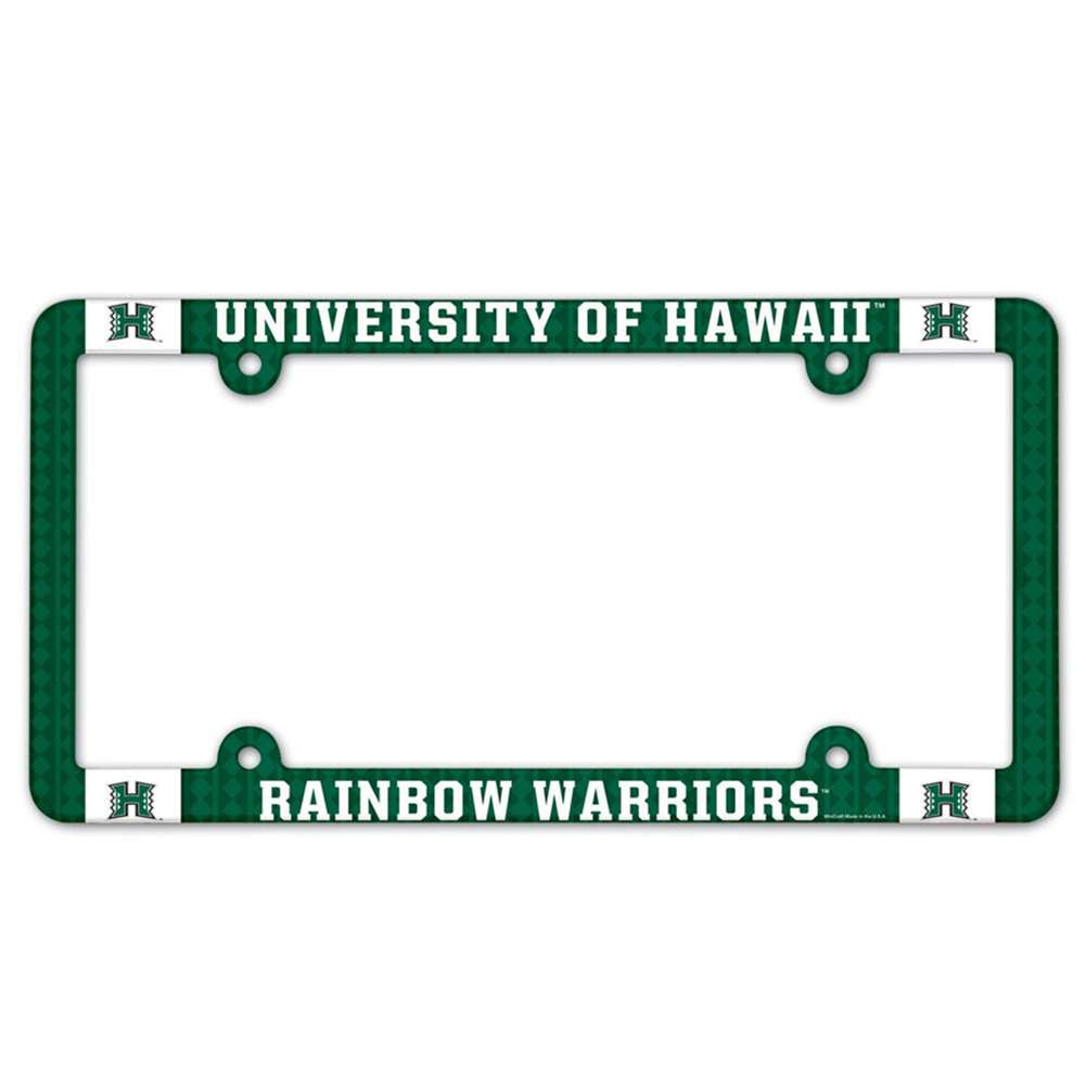 Hawaii Rainbow Warriors Plastic License Plate Frame
