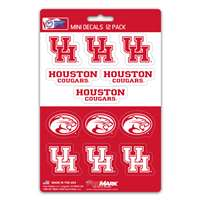 Houston Cougars Mini Decals - 12 Pack