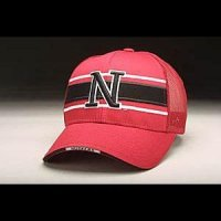 Nebraska Hat - Red Adjustable By Zephyr