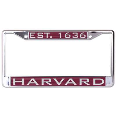 Harvard Crimson Metal Inlaid License Plate Frame