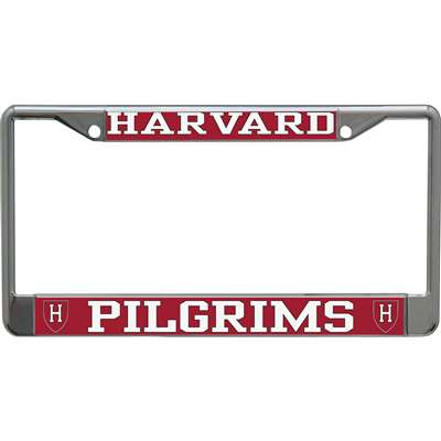 Harvard Crimson Metal License Plate Frame w/Domed Acrylic