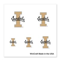 Idaho Vandals Fingernail Tattoos - 4 Pack