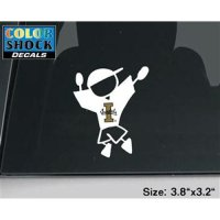 Idaho Vandals Decal - Boy Outline W/ Logo