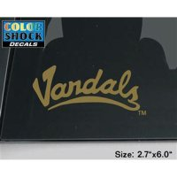 Idaho Vandals Decal - Arched Script Vandals