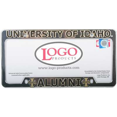 Idaho Vandals Alumni Chrome Plastic License Plate Frame