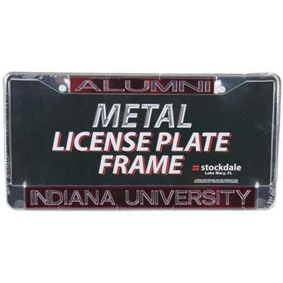 Indiana Hoosiers Metal Alumni Inlaid Acrylic License Plate