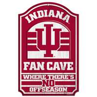 Indiana Hoosiers Fan Cave Wood Sign