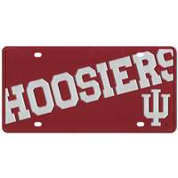 Indiana Hoosiers Full Color Mega Inlay License Plate