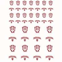 Indiana Hoosiers Small Sticker Sheet - 2 Sheets