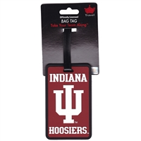 Indiana Hoosiers Soft Luggage/Bag Tag