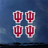 Indiana Hoosiers Transfer Decals - Set of 4