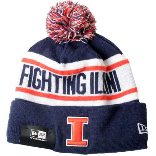 658eaff3971 Illinois Fighting Illini New Era Biggest Fan Knit Beanie