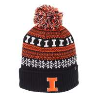 competitive price ea0d3 6265a Illinois Fighting Illini Zephyr Carousel Pom Knit Beanie ...
