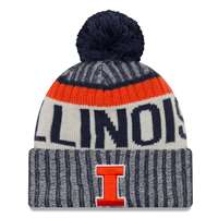 sports shoes fab50 81d56 ... Illinois Fighting Illini New Era Sport Knit Beanie, Nike Illinois  Fighting Illini Sideline Knit Beanie ...