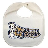 Byu Newborn Vinyl Snap Bib - All White