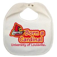 Louisville Newborn Vinyl Snap Bib - All White