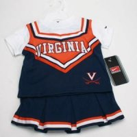Virginia Toddler 2-piece Short Sleeve Cheerleader Outfit By Nike