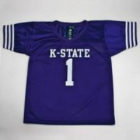 Kansas State #1 Youth Football Jersey - Purple