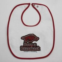 Arkansas Razorbacks - Newborn Snap Bib