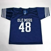 Ole Miss #48 Youth Football Jersey - Navy