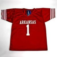 Arkansas #1 Youth Football Jersey - Cardinal