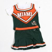 Miami Toddler 2-piece Long Sleeve Cheerleader Outfit By Nike New!