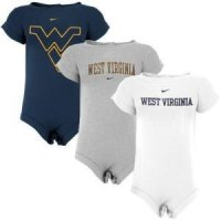 West Virginia Nike Infant 3-pack Creeper Set