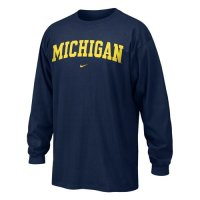 Michigan Nike Youth Classic L/s Tee