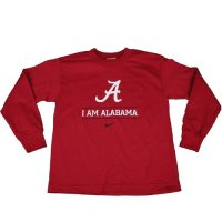 Alabama Nike Youth I Am We Are L/s Tee - Crimson