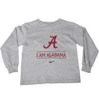 Alabama Nike Youth I Am We Are L/s Tee - Grey