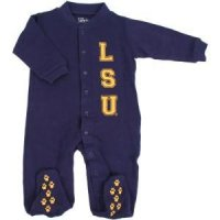 Lsu Tigers Infant Footsie Pajamas
